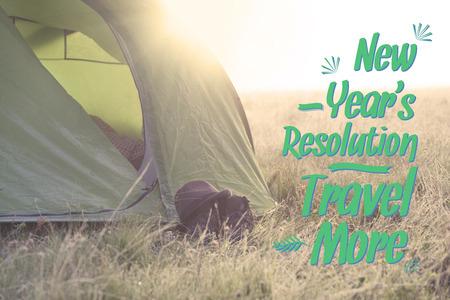 new years resolution: New Years Resolution to travel more Stock Photo