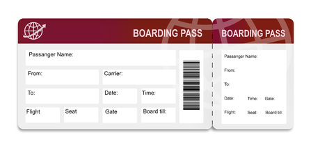 Airplane ticket Stock Photo - 58918291
