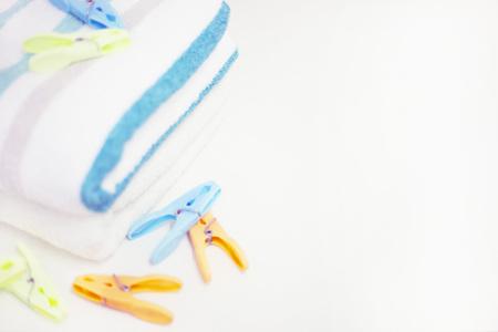 lean machine: Fresh Laundry background Stock Photo