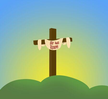 ashes: Easter sunday holy week sunrise card