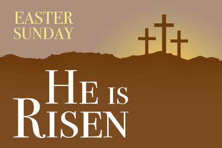 Niedziela Wielki Tydzień Wielkanoc karty sunrise