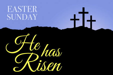 Sunday holy week Easter sunrise card