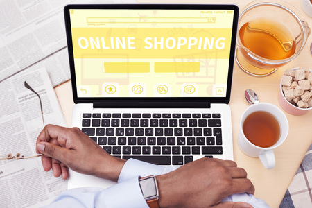 e cash: online Shopping Stock Photo