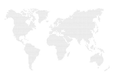 globally: Abstract illustration of world map
