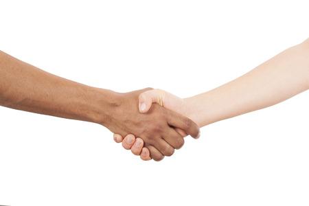 interracial: Interracial handshake Stock Photo