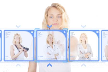 decide deciding: Young woman Deciding on a career as a medical professional