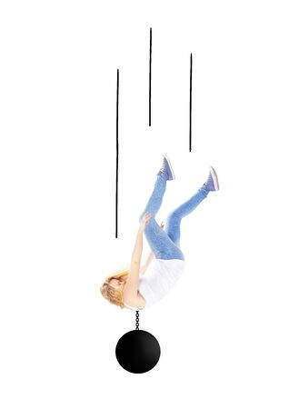 freefall: Woman falling Stock Photo
