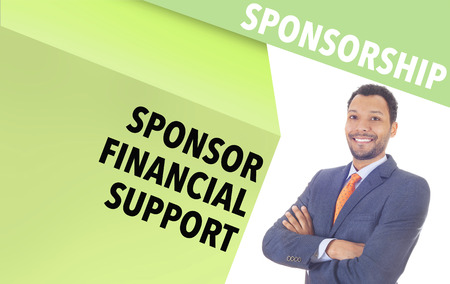 sponsorship: Confident Businessman and Sponsorship wordcloud