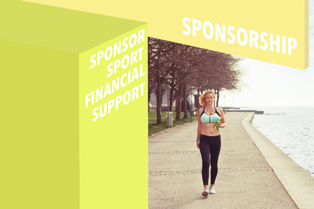 sponsorship: Runner and Sponsorship wordcloud Stock Photo