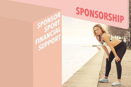 financial official: Runner and Sponsorship wordcloud Stock Photo
