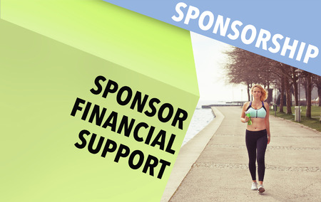 sponsorship: Runner and Sponsorship wordcloud and copyspace