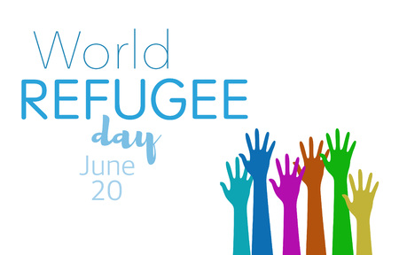 World refugee day on june 20th 스톡 콘텐츠