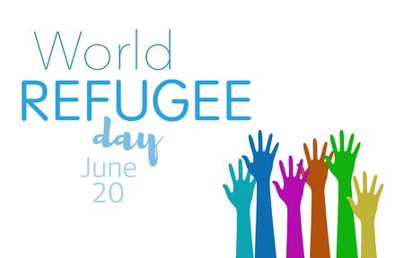 World refugee day on june 20th Standard-Bild