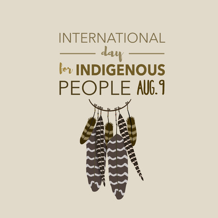innate: International day for indigenous people, August 9th Stock Photo