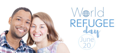 immigrate: World refugee day on june 20th Stock Photo