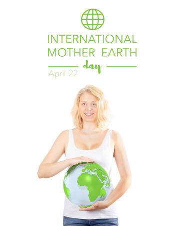madre tierra: D�a Internacional de la Madre Tierra Foto de archivo
