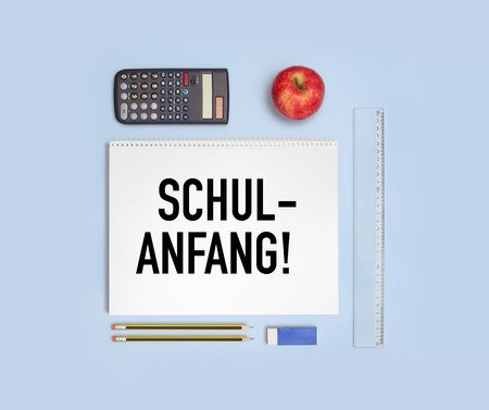 Back to School, in German - Schulanfang Stock Photo