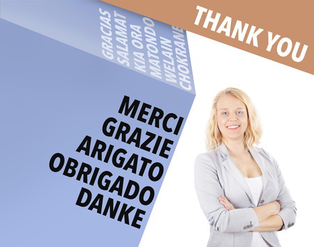 multilingual: Thank you - international business concept