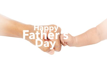 bumps: Happy fathers day Fist bump Stock Photo