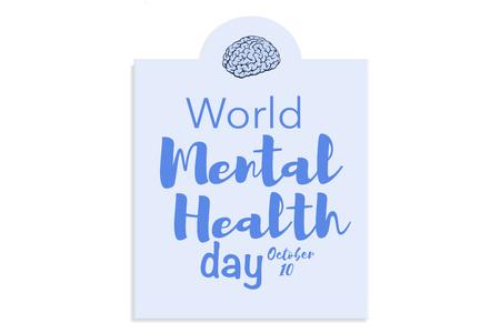 Werelddag van de geestelijke gezondheid dag
