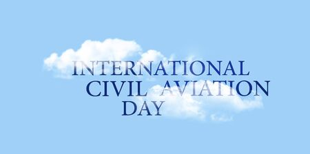 aeronautic: International civil aviation day December 7, banner