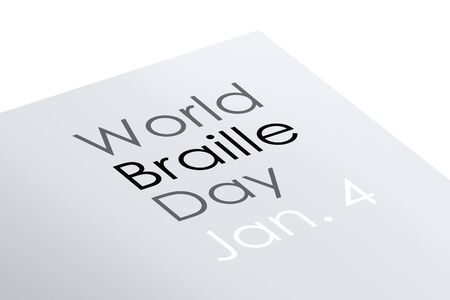 congenital: World braille day illustration Stock Photo