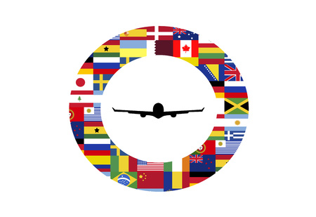 Concept for international air travel Stock Photo