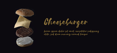 copyspace: Cheeseburger Banner with copyspace Stock Photo