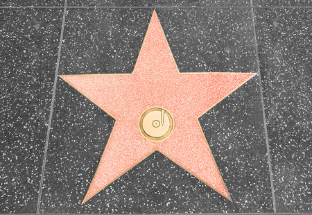 Star on the walk of fame with copy space