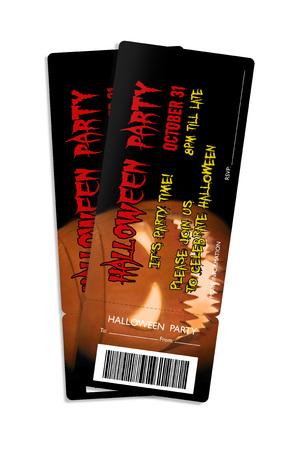 halloween party: Halloween Party ticket invitation