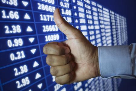 Stock market conceptual idea, making money
