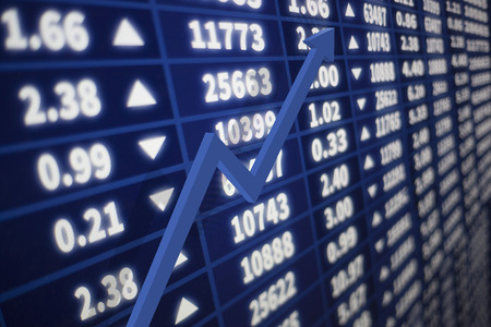 Interactive stock market with an arrow