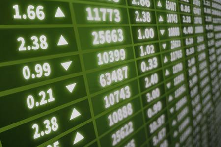 Interactive stock market background