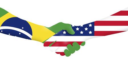 Internationales Geschäft - Brasilien - USA Standard-Bild - 64496877