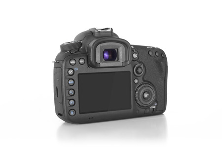 35 ミリメートル レンズとデジタル一眼レフ プロの写真カメラ