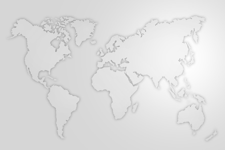 Abstracte illustratie van de wereldkaart