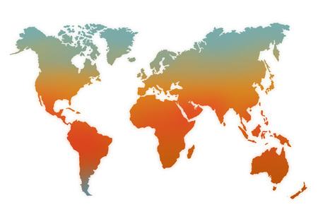Kleur Thermologie Wereldkaart