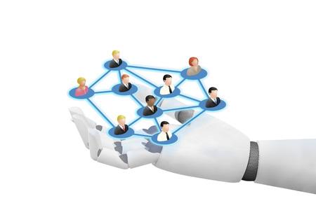 Robot joying social networking technologies medias