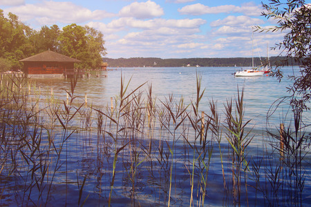 Stanberger Lake - Bavarian landscape 스톡 콘텐츠