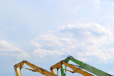 Excavator tractor dozer Stock Photo