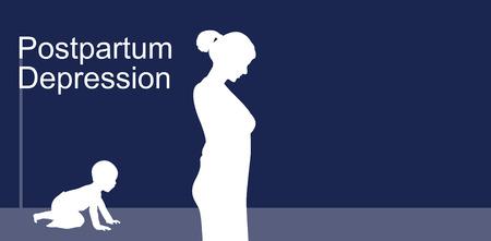 Postpartale Depression Standard-Bild - 86784679