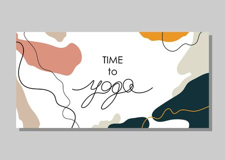 Card, banner, poster, sticker, background with abstraction and the text Vectores
