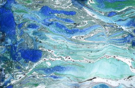 Marble paper. Marble ink texture. Ebru background. Marble waved painting. Marbleized paper. Hand painted marbling illustration 版權商用圖片