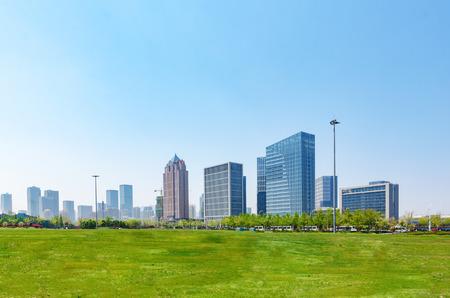 Distrito de negocios de Huangdao Foto de archivo