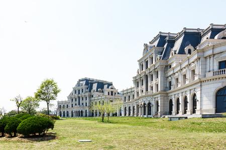 European architecture in the park