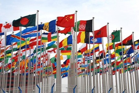Variety flags Stock Photo