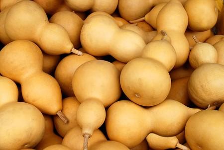 Background of the many bottle gourd calabash