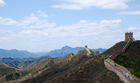 The Great wall of China in Simatai section