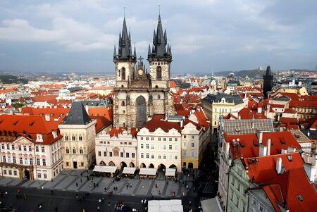 the main church of old town of Prague Czech Republic