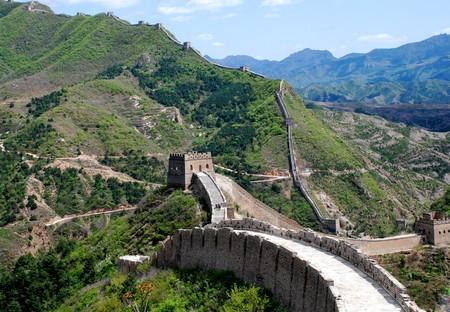 muralla china: La Gran Muralla China en secci�n Simatai  Foto de archivo